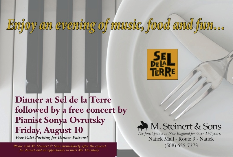 Dinner and a Concert at M. Steinert & Sons in Natick
