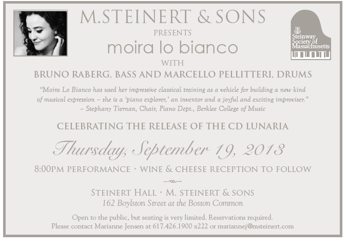 M. Steinert & Sons Presents Moira Lo Bianco
