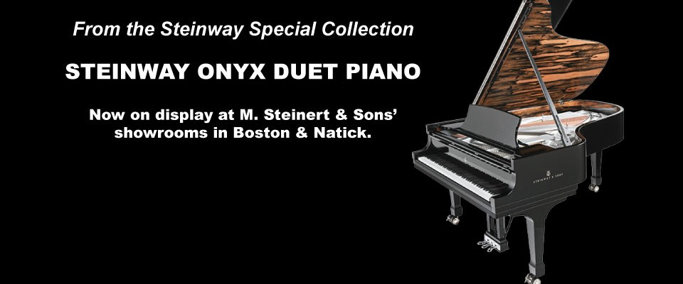 Come See the Breathtaking Steinway Onyx Duet Piano