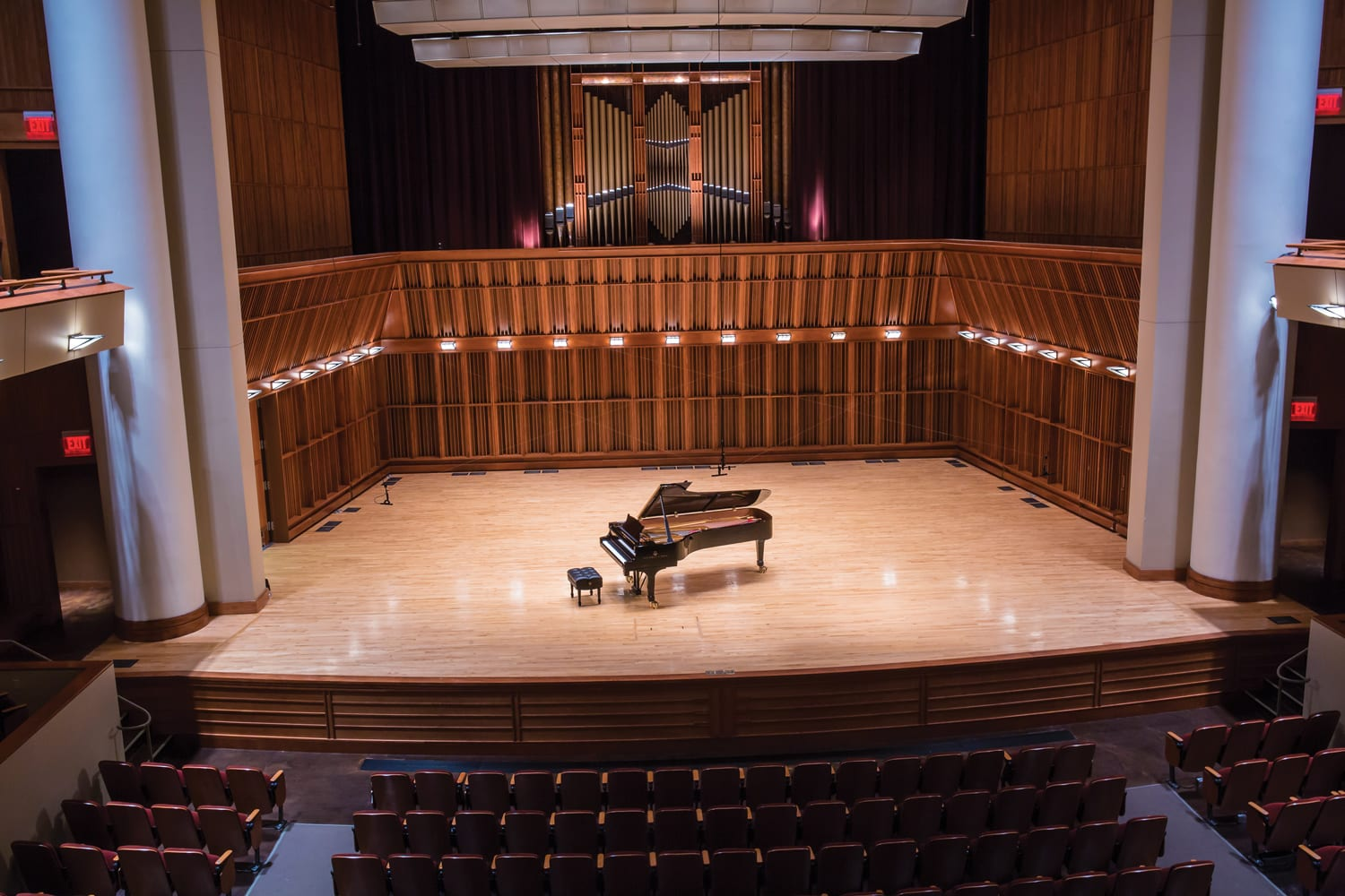 Steinway Concert Grand on Stage