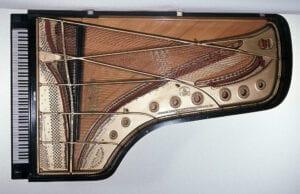 Photo of Steinway piano used by Paderewski on his 1892-93 tour.