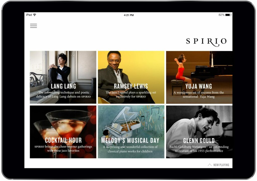 Apple iPad featuring Steinway Musical Library for Spirio