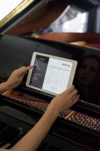iPad interface for Spirio self-playing piano