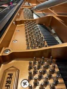 Photo of piano strings